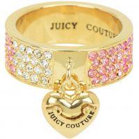 Damen Juicy Couture PVD Gold überzogen Größe P charakteristisch Gradient Pave Herz Ring