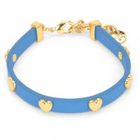 Ladies Juicy Couture PVD Gold plated Layered In Couture Heart Leather Bracelet WJW734-422