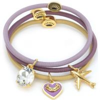 Ladies Juicy Couture PVD Gold plated Charmy Elastics Hair Elastics