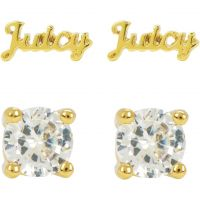 Ladies Juicy Couture PVD Gold plated Juicy Expressions Stud Earring Set