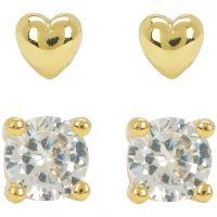 Juicy Couture Dam Juicy Expressions Heart Expressions Stud Earring Set PVD guldpläterad WJW738-710
