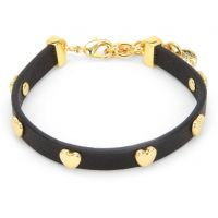 Ladies Juicy Couture PVD Gold plated Layered In Couture Heart Leather Bracelet