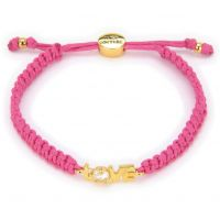Ladies Juicy Couture PVD Gold plated Love Juicy Cord Bracelet
