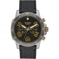 Herren Nixon The Ranger Chrono Leather Chronograph Watch A940-2222