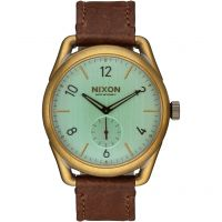 Nixon The C39 Leather Herenhorloge Bruin A459-2223