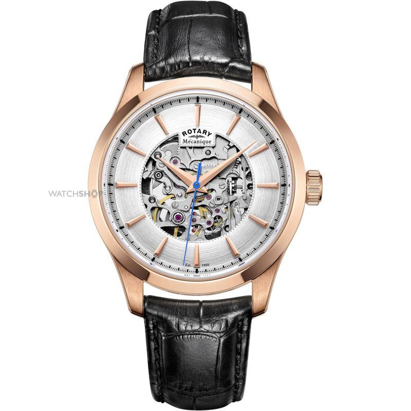 Herren Rotary Mecanique Skeleton Watch GS05036/06