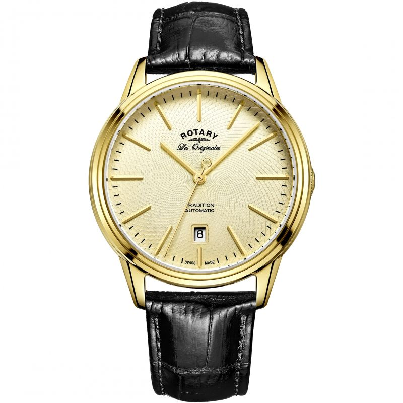 Mens Rotary Swiss Made Tradition Automatic Watch GS90163/03