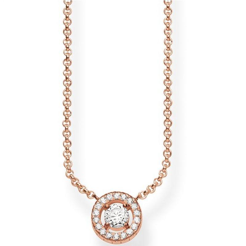 Ladies Thomas Sabo Sterling Silver Glam & Soul Light of Luna Necklace KE1494-416-14-L45V