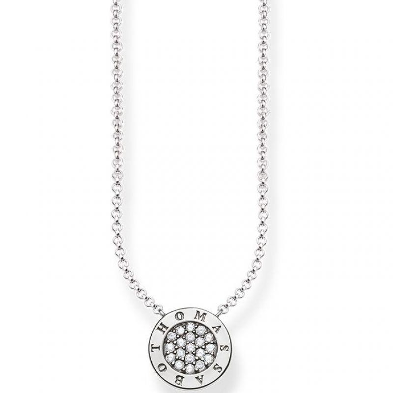 Ladies Thomas Sabo Sterling Silver Glam & Soul Classic Pave Necklace KE1493-051-14-L45V