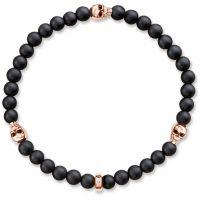unisexe Thomas Sabo Jewellery Rebel At Heart Skull Rose Bracelet Watch A1508-444-11-L17