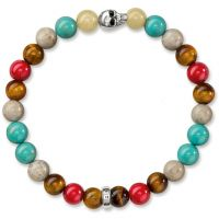 unisexe Thomas Sabo Jewellery Rebel At Heart Skull Bracelet Watch A1514-883-7-L17
