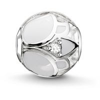 femme Thomas Sabo Jewellery Karma Beads White Lotus Blossom Bead Watch K0205-041-14