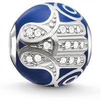 Damen Thomas Sabo Sterlingsilber Karma Perlen Blau Fatimas Hand Perle
