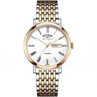 Herren Rotary Schweizer hergestellt Windsor Quarz Uhr