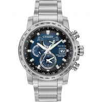 Herren Citizen World Zeit A-T Wecker Eco-Drive Uhr