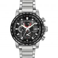 Mens Citizen World Time A-T Alarm Radio Controlled Eco-Drive Watch