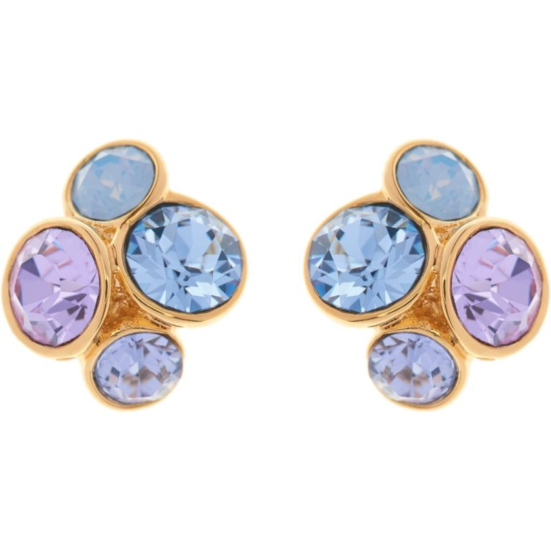 Ladies Ted Baker PVD Gold plated LYNDA JEWEL CLUSTER STUD EARRING TBJ496-02-211
