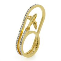 Juicy Couture Dames JET SET RING SIZE P PVD verguld Goud WJW789-710-8