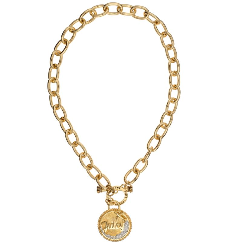 Juicy Couture Dames JET SET NECKLACE PVD verguld Goud WJW804-710