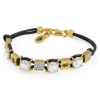 Ladies Juicy Couture PVD Gold plated CUBE BRACELET