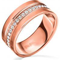Damen Folli Follie PVD Rosa plating Touch Ring Größe P