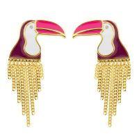 Ladies Juicy Couture Gold Plated Ipanema Toucan Stud Earrings