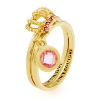 femme Juicy Couture Jewellery Juicy Crown Ring Set Watch WJW893-710-8