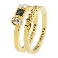 Damen Juicy Couture vergoldet Semi-Precious Juicy Ring Set