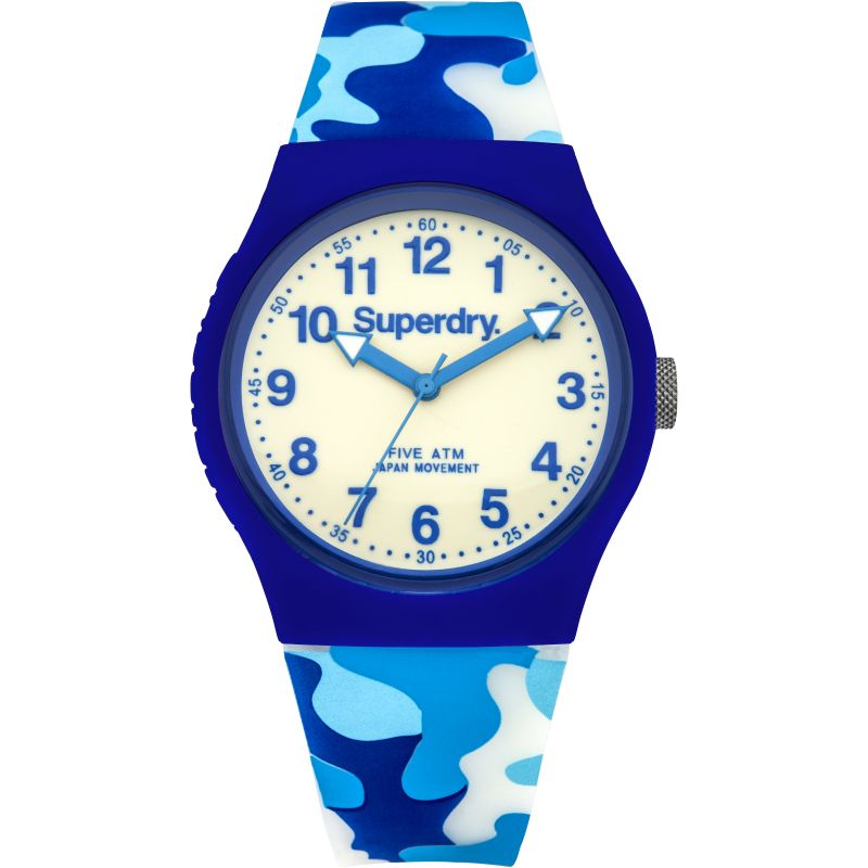 Mens Superdry Urban Glow In The Dark Watch SYG178U