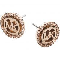 Ladies Michael Kors PVD rose plating Heritage Earrings MKJ2942791