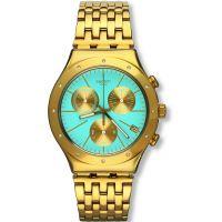 Damen Swatch eisern Chrono -Turchesa Chronograf Uhr
