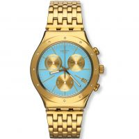 Damen Swatch Irony Chrono -Turchesa Chronograph Watch YCG413G