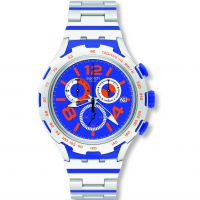Unisex Swatch Irony X-Lite -Chemical Blue Chronograph Watch YYS4011AG