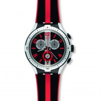 Herren Swatch Irony X-Lite -Stripes Chronograph Watch YYS4013