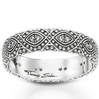 femme Thomas Sabo Jewellery Ethno Ornamentation Ring Watch TR2092-643-14-58