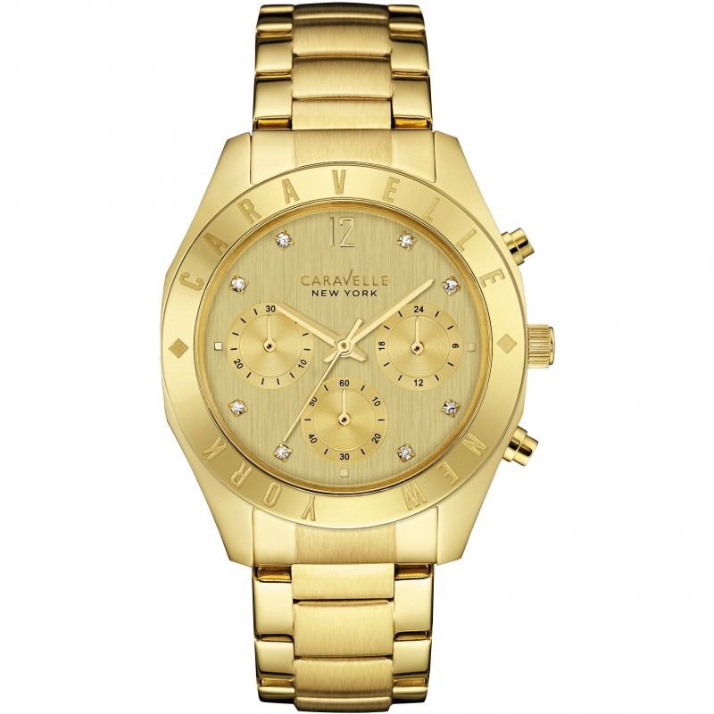 Ladies Caravelle New York Chronograph Watch 44L213