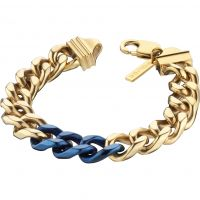 Mens Police PVD Gold plated Bichrome Bracelet