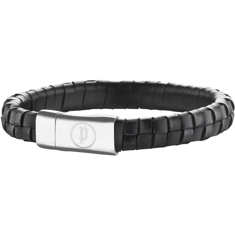 Mens Police Stainless Steel Connector Bracelet 25689BLB/01-L