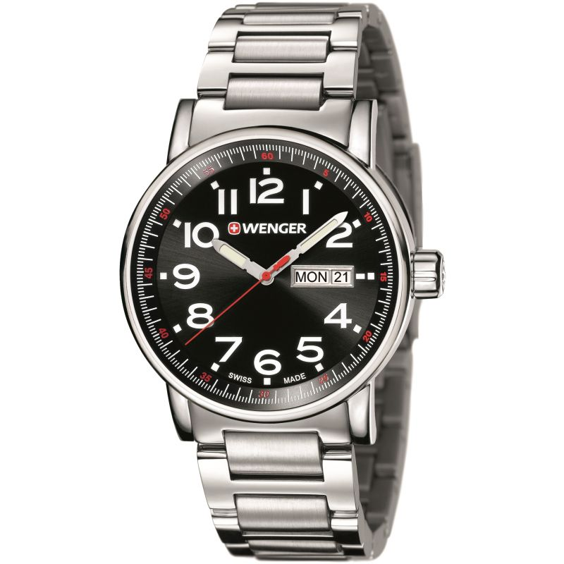 Mens Wenger Attitude Day Date Watch 010341104