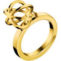 Damen Calvin Klein PVD Gold überzogen Ring Größe O