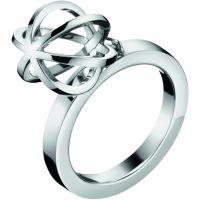 Damen Calvin Klein Edelstahl Ring Größe O