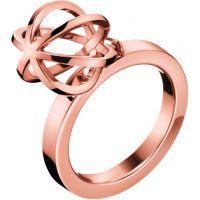 Damen Calvin Klein PVD Rosa plating Ring Größe O
