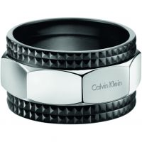 Ladies Calvin Klein Black Ion-plated Steel Size V/W High Ring