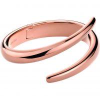 Damen Calvin Klein PVD Rosa plating EMBRACE BANGLE SIZE XS
