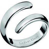 Ladies Calvin Klein Stainless Steel Size P Embrace Ring