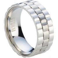 Mens STORM Stainless Steel Velo Ring Size W