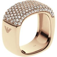 Damen Emporio Armani Sterlingsilber Größe M.5 Pure Pave Ring