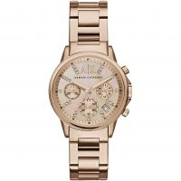 Armani Exchange Dameschronograaf Rose AX4326