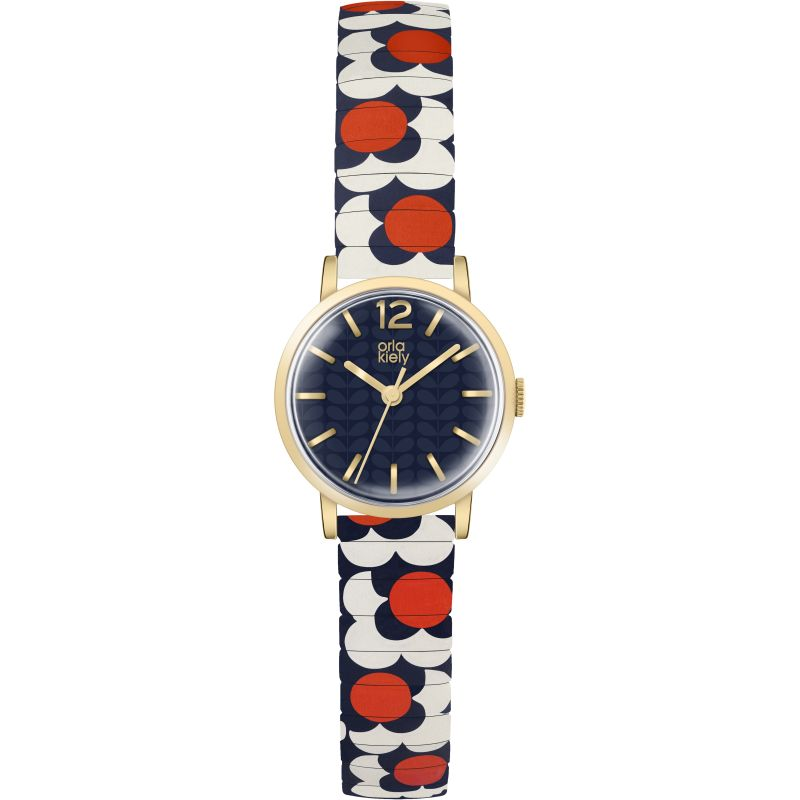 Ladies Orla Kiely Flower Pop Watch OK4040