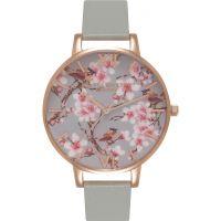 Damen Olivia Burton Painterly Prints geblümt Birds Print Uhren